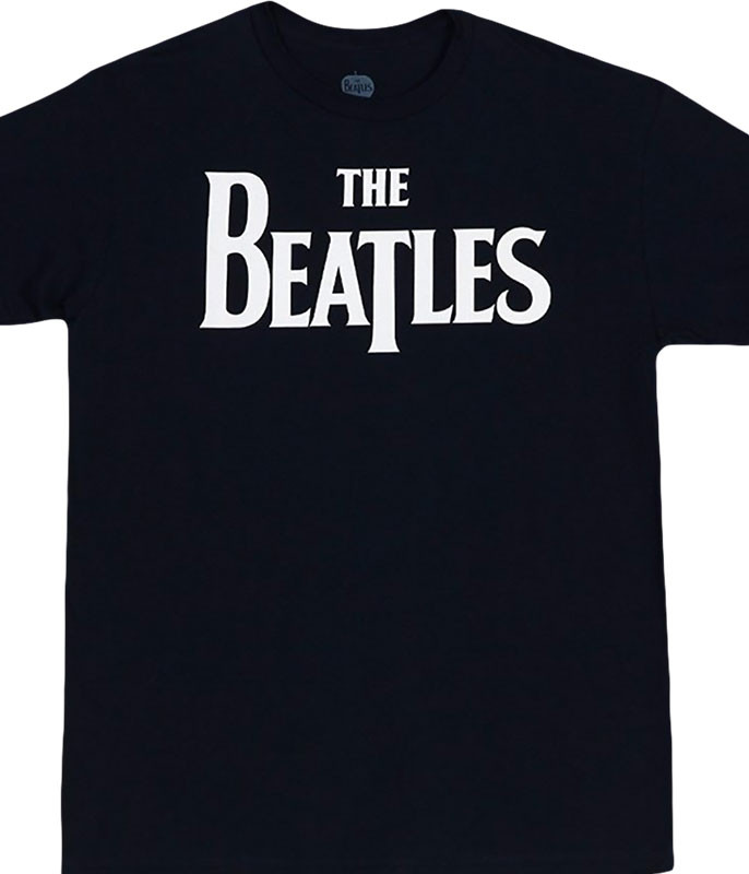 Beatles Logo Black T-Shirt Tee