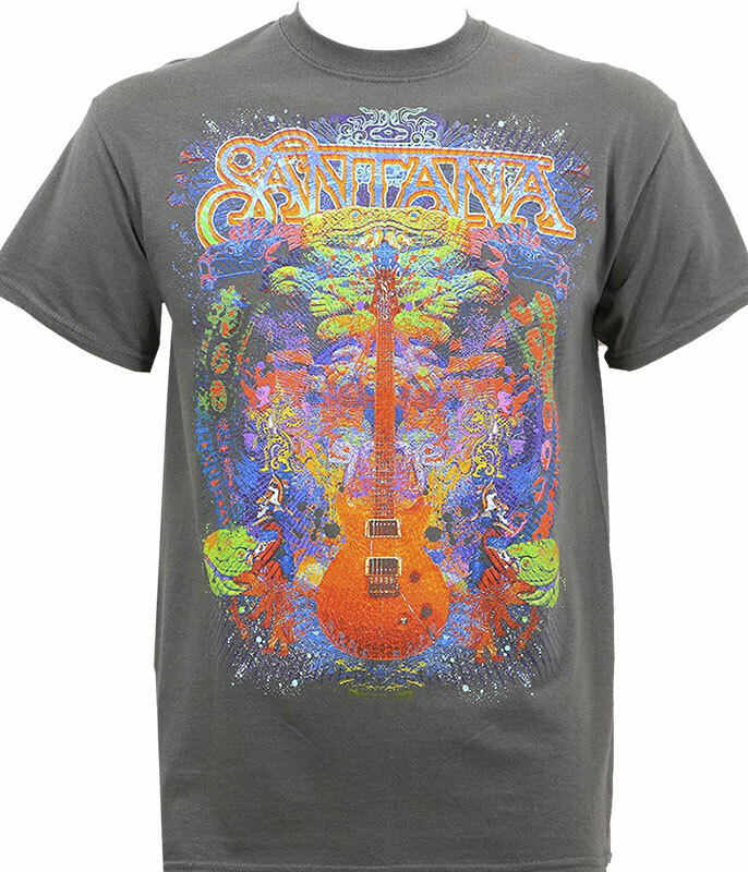 Santana Spiritual Soul Black T-Shirt Tee