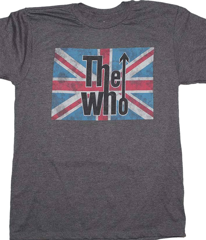 The Who Union Jack Grey T-Shirt Tee