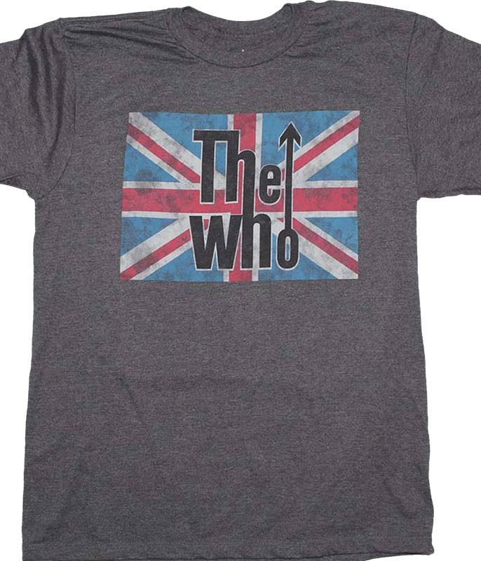 The Who Union Jack Grey T-Shirt Tee