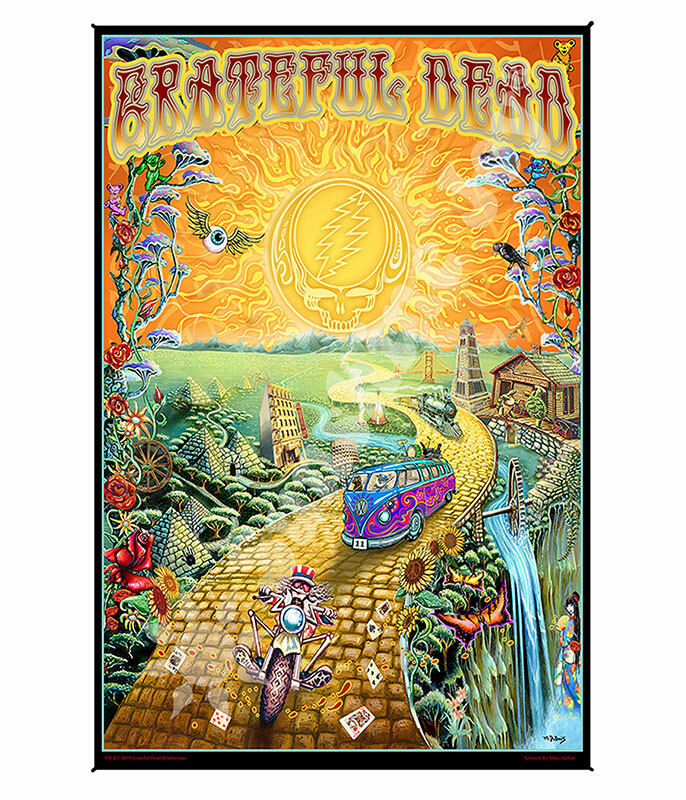 Grateful Dead GD Golden Road Mini Tapestry