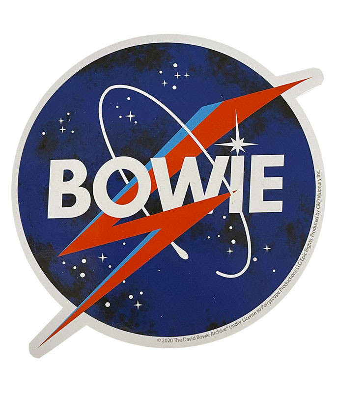 David Bowie Nasa Sticker