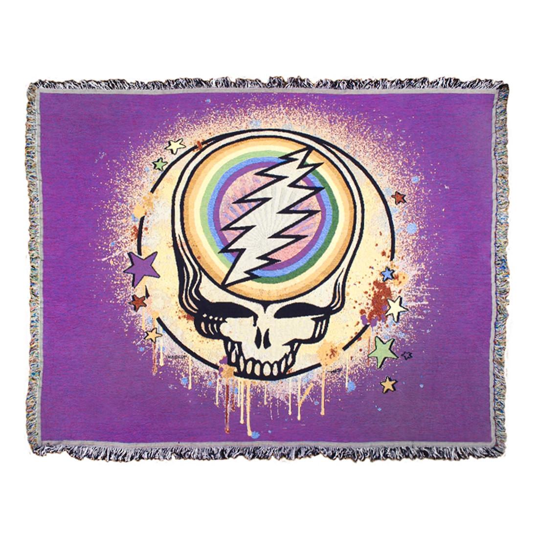 GD Rainbow Splatter Purple Woven Blanket