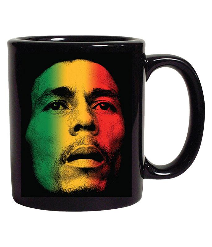 Bob Marley Gradient Face Black Mug