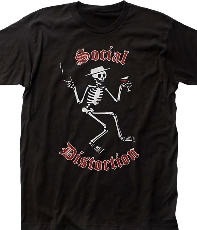 Social Distortion Skellys Black T-Shirt