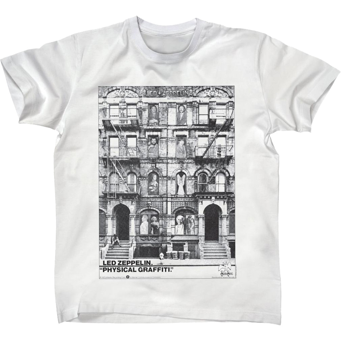 Led Zeppelin Physical Grafitti White T-Shirt