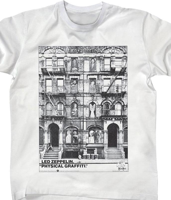 Led Zeppelin Physical Graffiti White T-Shirt Tee