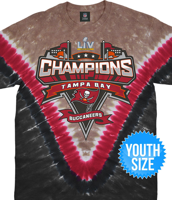 Tampa Bay Buccaneers Super Bowl LV Champions Youth Tie-Dye T-Shirt