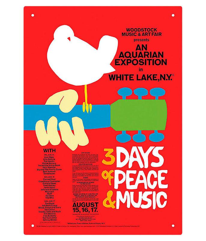 Woodstock 3 Days Tin Sign