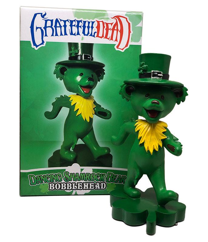 Grateful Dead Bobblehead Dancing Shamrock Bear Green