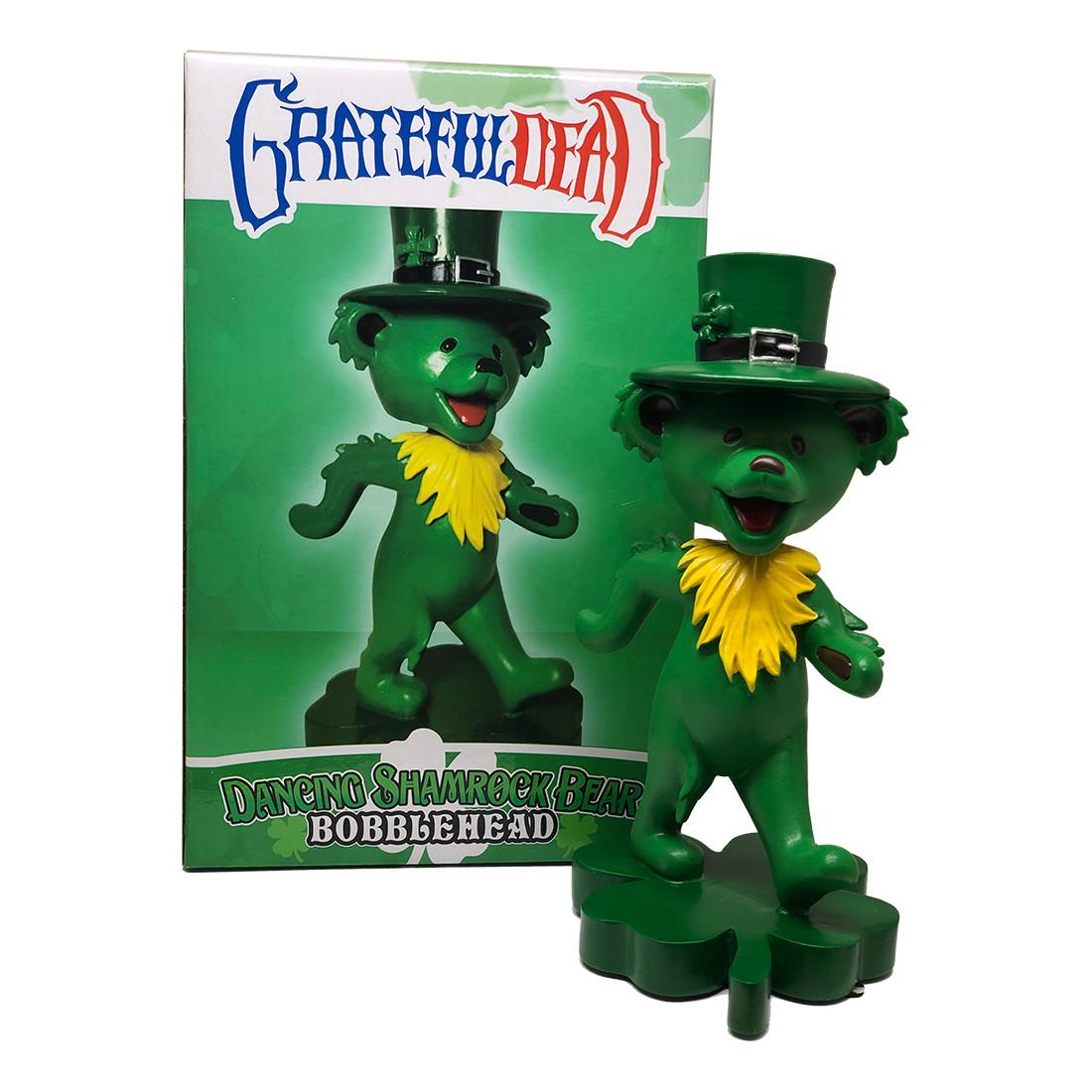 GD Bobblehead Dancing Shamrock Bear Green
