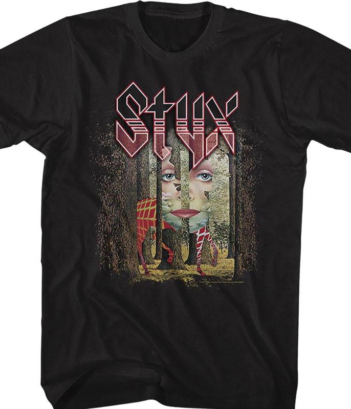 Styx Grand Illusion Black T-Shirt Tee