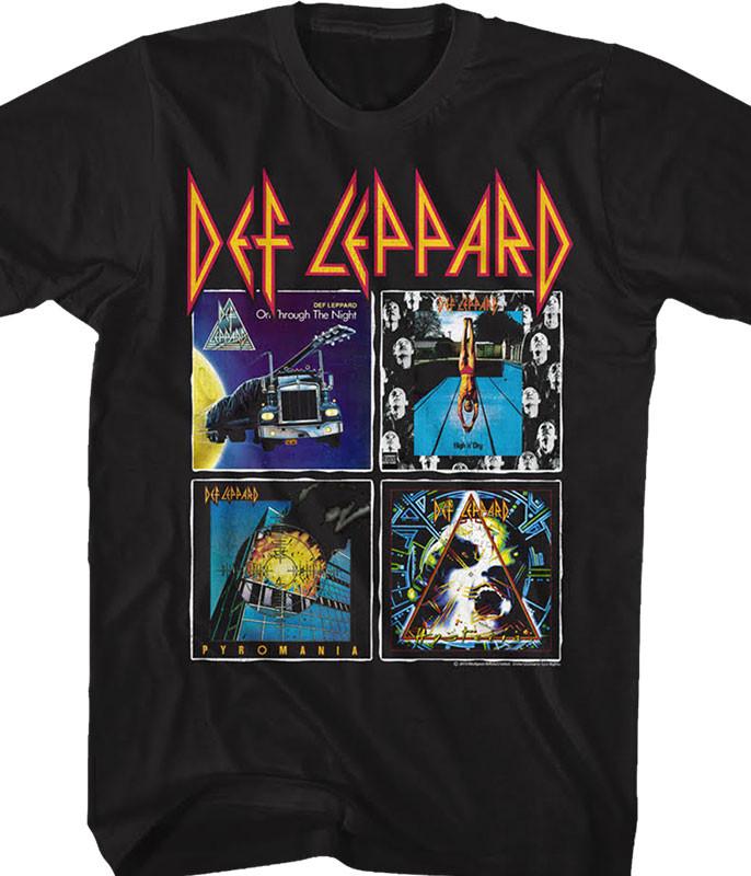 Def Leppard Albums Black T-Shirt Tee
