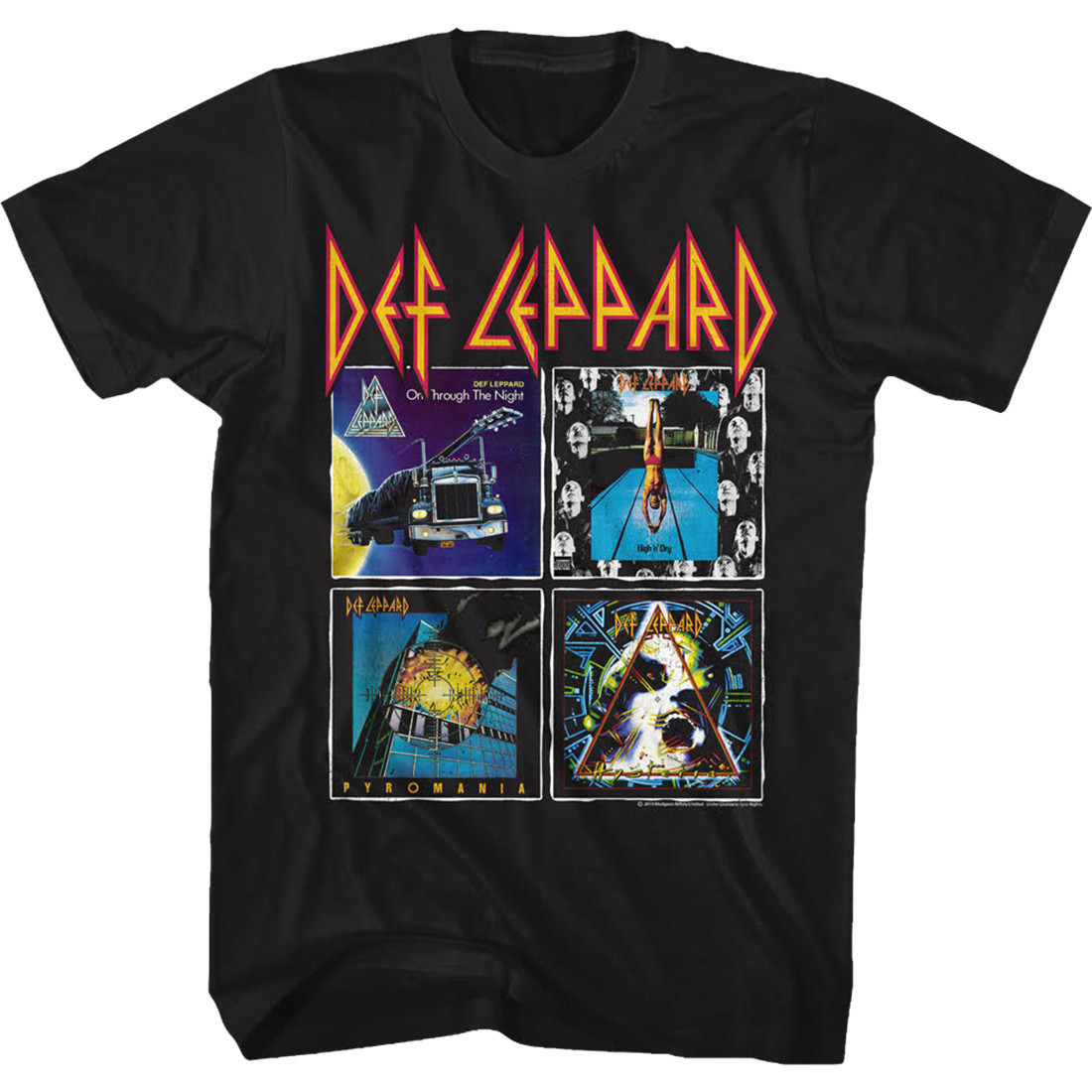 Def Leppard Albums Black T-Shirt