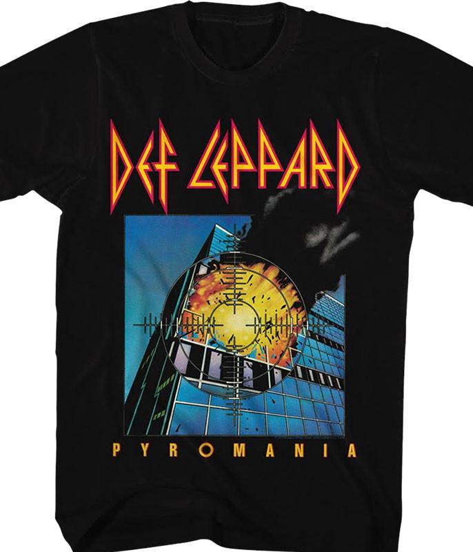 Def Leppard Pyromania Black T-Shirt