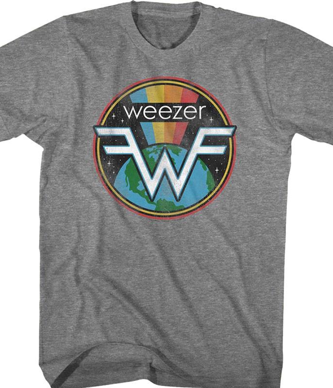 Weezer Space Weez Grey T-Shirt Tee