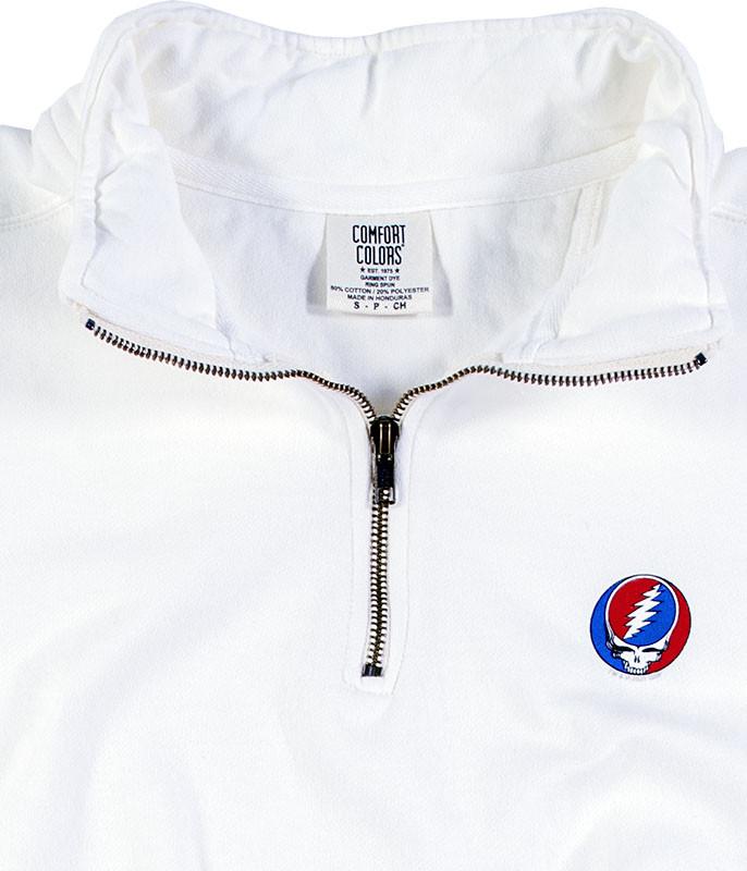 SYF ¼ Zip Pullover Comfort Colors White Sweatshirt