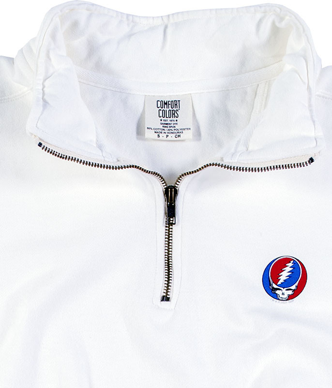 Grateful Dead SYF ¼ Zip Pullover Comfort Colors White Sweatshirt Tee