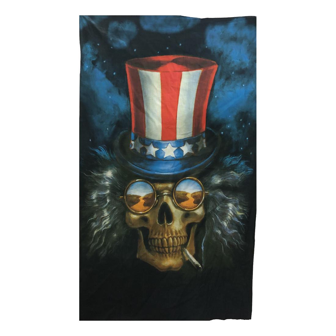 Uncle Sam Skull Heady Mini Tapestry