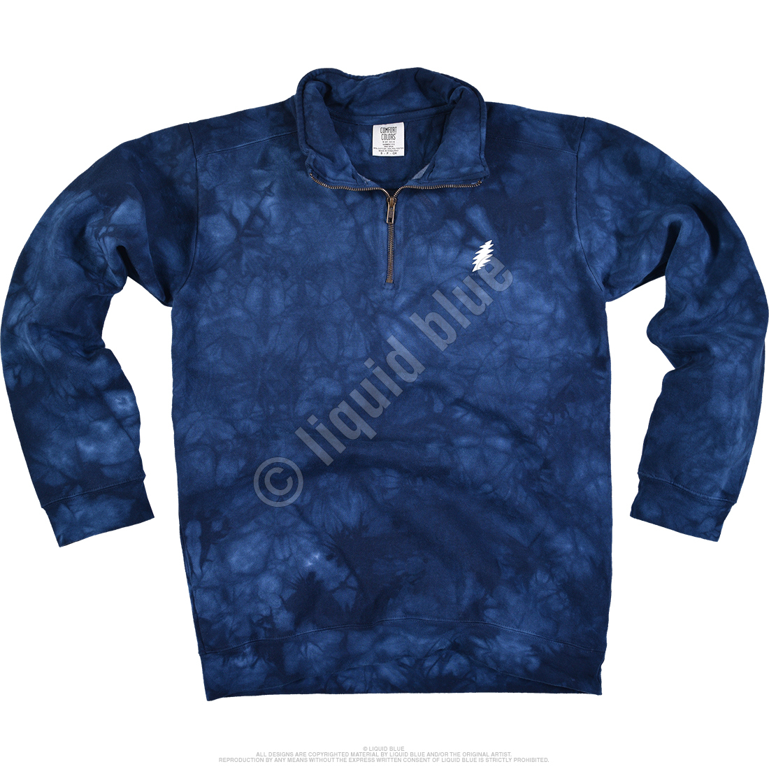 Bolt ¼ Zip Pullover Comfort Colors Tie-Dye Sweatshirt