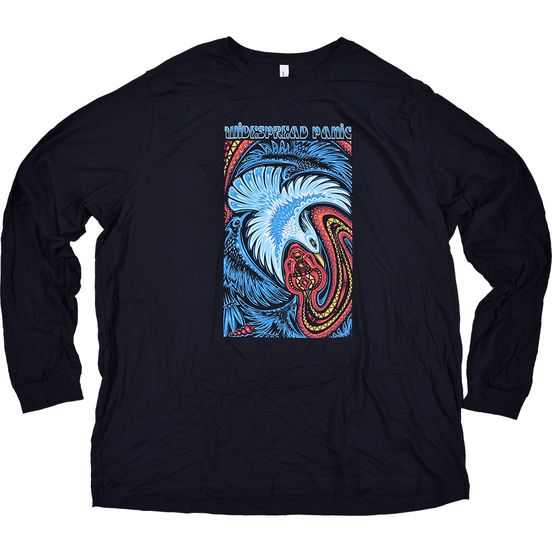 Dove and Snake Long Sleeve Navy T-Shirt