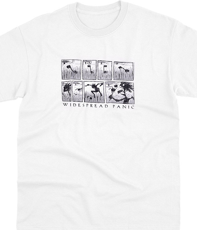 Widespread Panic Note Eater Comic White T-Shirt Tee