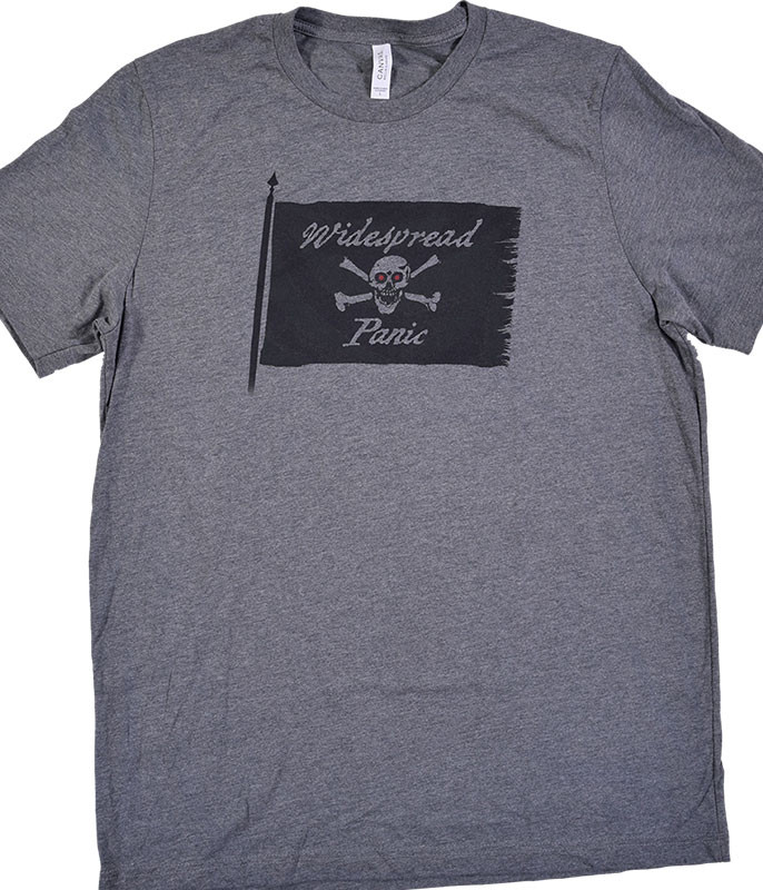 Widespread Panic Jolly Roger Dark Heather Grey T-Shirt Tee