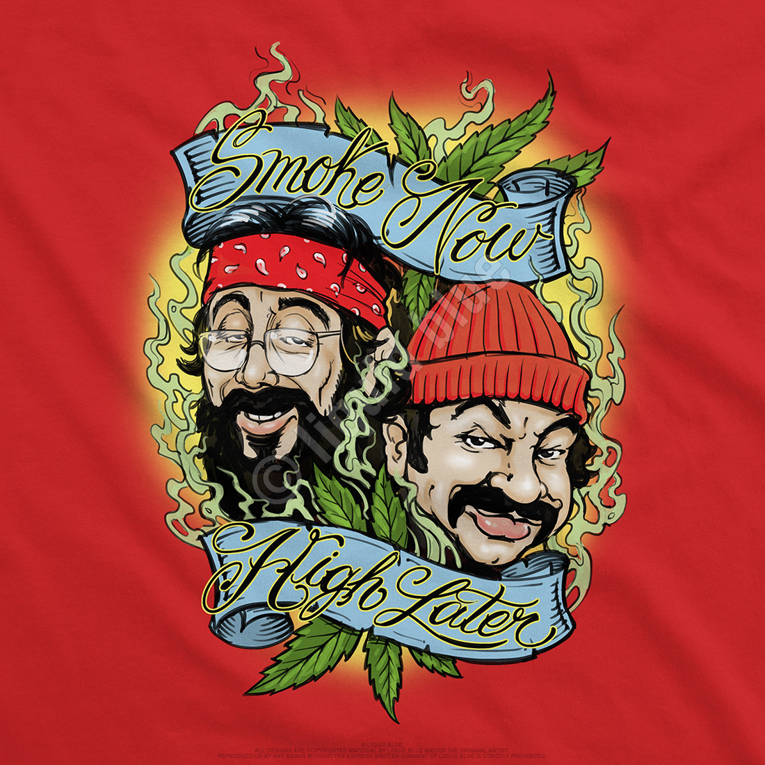 Smoke Now High Later Red T-Shirt