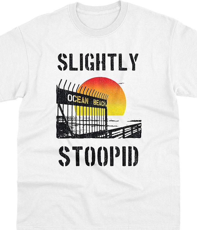 Slightly Stoopid Ocean Beach Gate White T-Shirt Tee