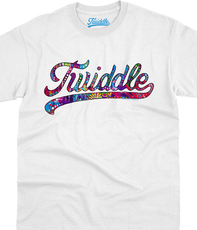 Twiddle Frankenfoote White T-Shirt Tee Liquid Blue