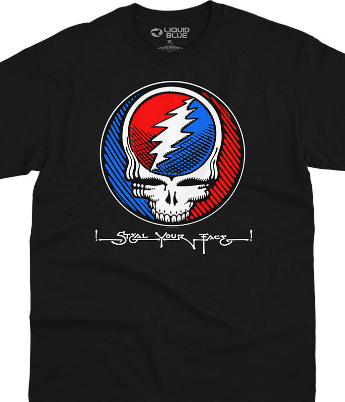 Grateful Dead Steal Underground SYF Black T-Shirt Tee Liquid Blue