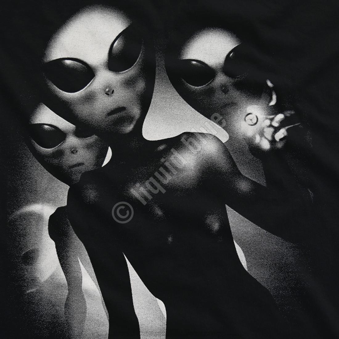 Alien Visitors Black T-Shirt