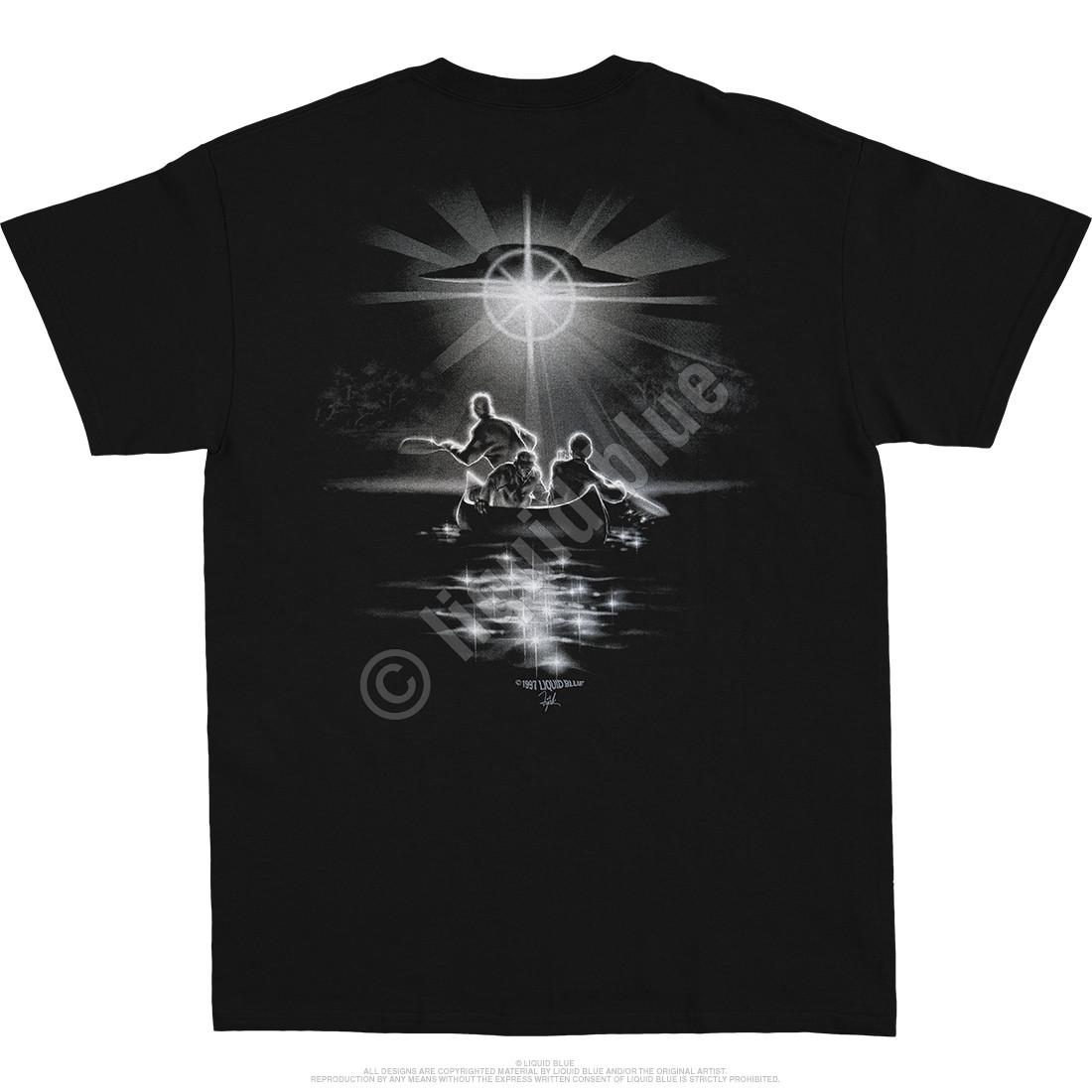 Alien Abduction Black T-Shirt