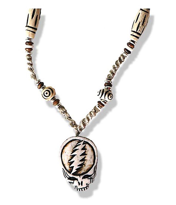 SYF Bone and Hemp Beaded Necklace