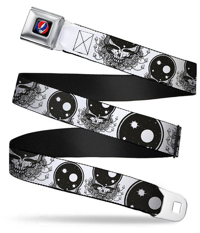 Grateful Dead Space Your Face Seatbelt Belt White