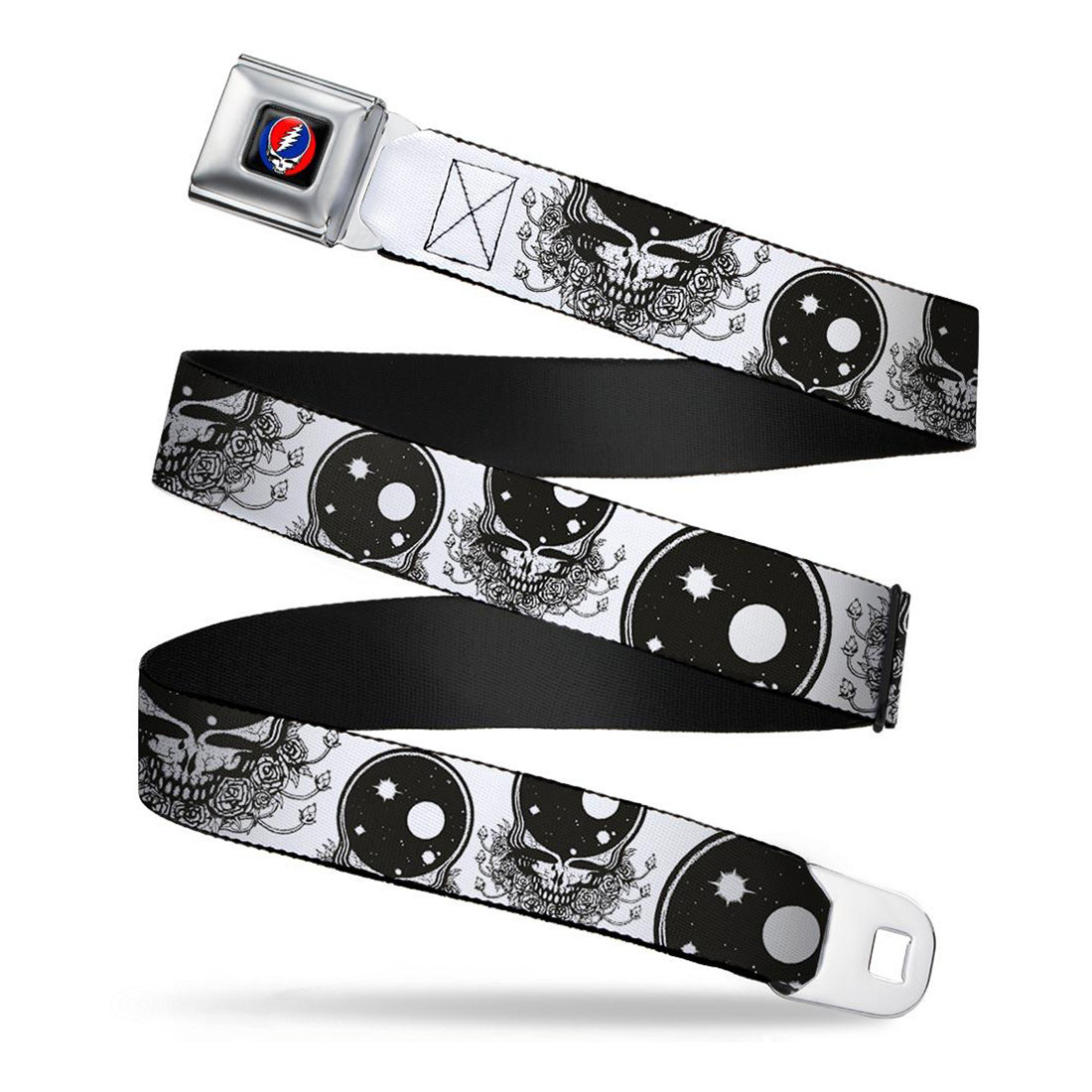 Space Your Face Seatbelt Belt White