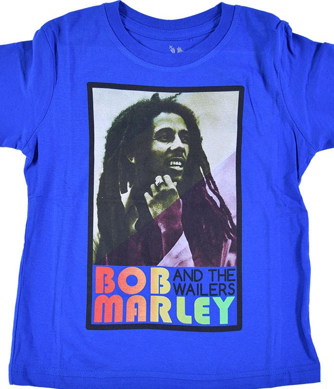 Bob Marley Marley Profile Toddler Blue T-Shirt Tee