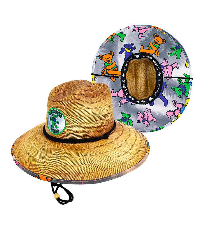Grateful Dead Dancing Bear Straw Sun Hat