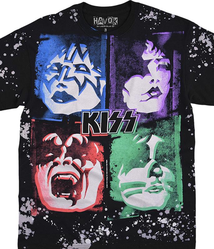 KISS Love Gun Havok Black T-Shirt Tee Liquid Blue
