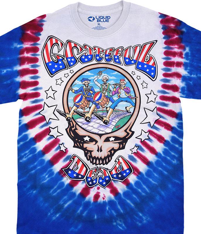 Grateful Dead Spirit of 76 Tie-Dye T-Shirt Tee Liquid Blue