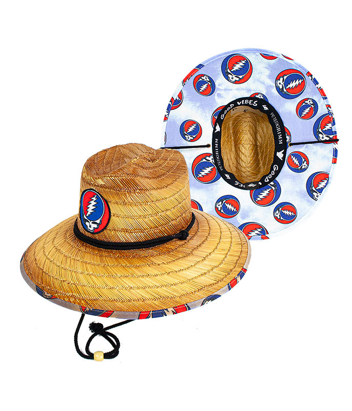 Grateful Dead Steal Your Face Straw Sun Hat