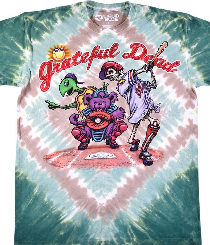 Grateful Dead Spring Training Tie-Dye T-Shirt Tee Liquid Blue
