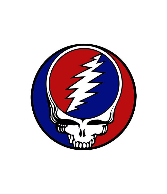 Grateful Dead Steal Your Face 4 in. Mylar Sticker Liquid Blue