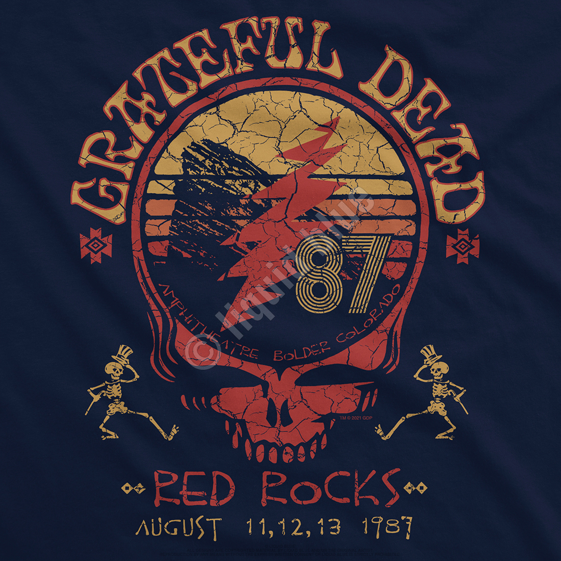 Red Rocks 87 Navy T-Shirt