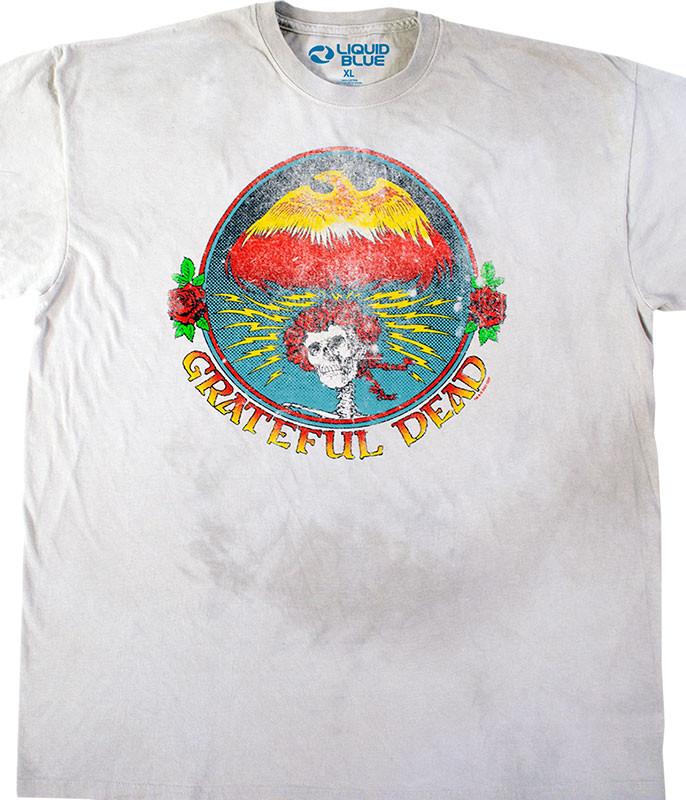 Grateful Dead Bertha Eagle Tie-Dye T-Shirt Tee Liquid Blue