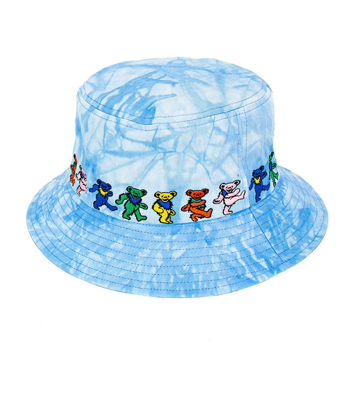 Dancin Bear Tie-Dye Blue Bucket Hat