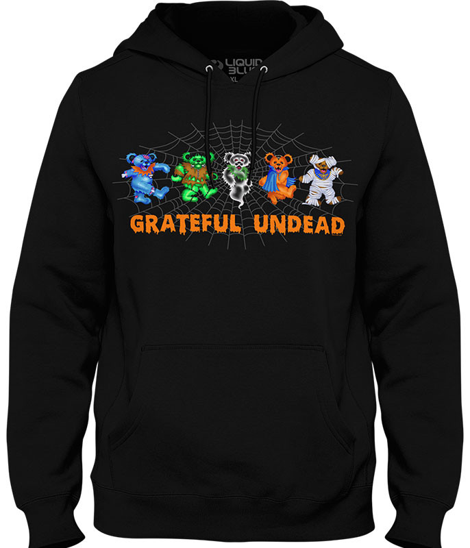 Grateful Dead Undead Bears Black Hoodie