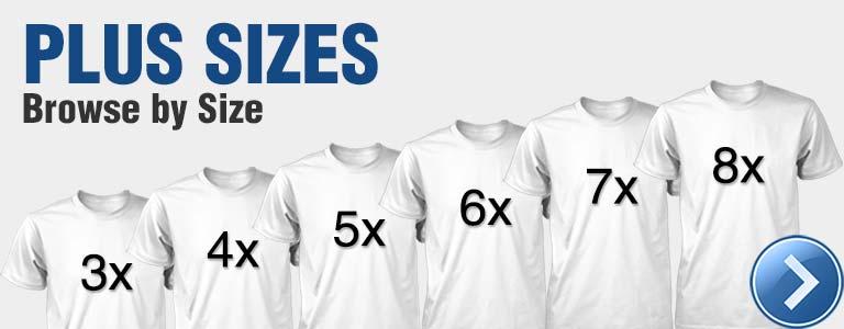 Plus Size 3x 4x 5x 6x 7x 8x T-Shirts, Tie-Dyes