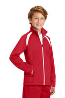 Sport-Tek Youth Tricot Track Jacket. YST90