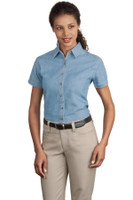 Port & Company - Ladies Short Sleeve Value Denim Shirt.  LSP11